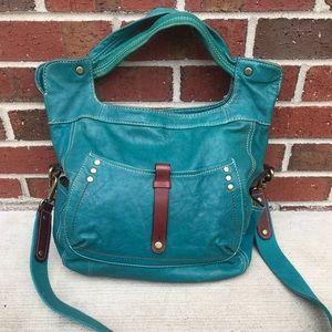 Fossil Green Leather Crossbody Shoulder Bag ZB4691